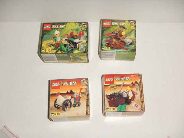 Lego Adventurers podróżnicy 4 zestawy kompletne z pudełkami