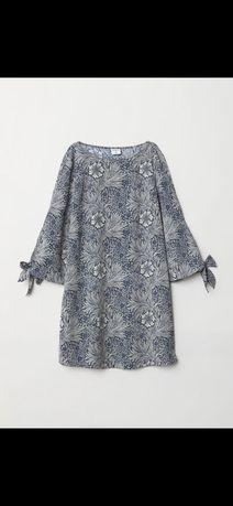 Платье h&m Zara mango в цветы летнее коллаборация