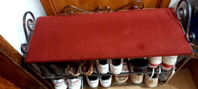Stojak na buty piekny stylowy okucia wraz siedziskiem
