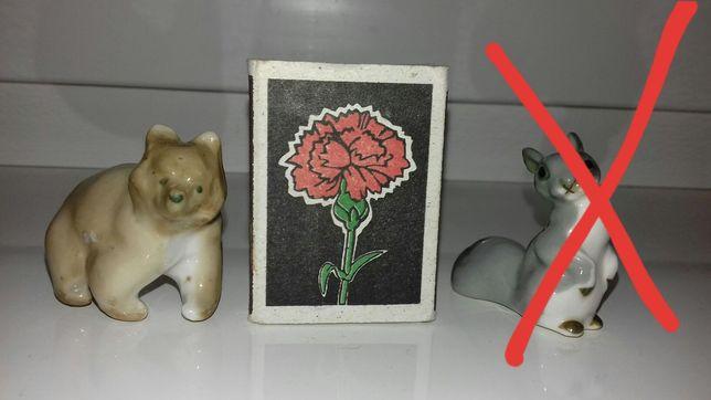 Фарфоровая статуэтка мишка,медведь
