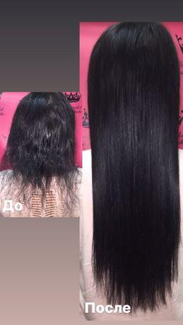 Натуральные волосы для наращивания 52 см чёрные