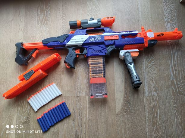 Pistolet wyrzutnia Nerf N-strike Elite Rapid+GRATISstrike duży zestaw