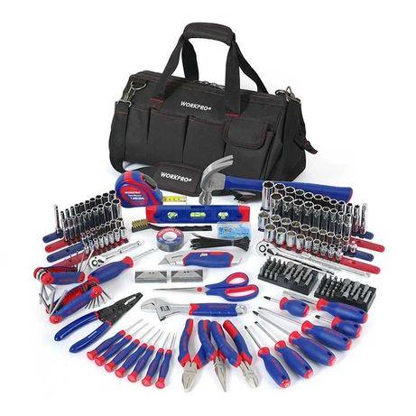 Kit de ferramentas com 322 peças em mala de transporte