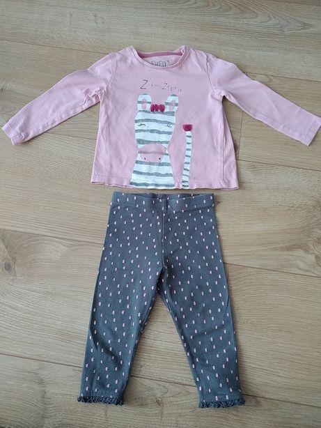 19. Zestaw F&F 68 zebra koszulka + spodnie legginsy