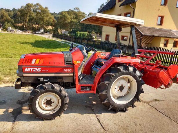 Minitraktorek, traktor sadowniczy Mitsubishi MT26 stan idealny