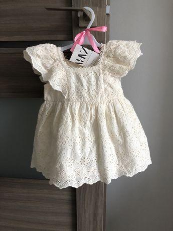 Zara nowa sukienka koronkowa 68 cm