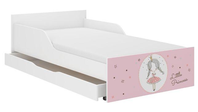 Łóżko młodzieżowe dziecięce PUFI 180x90 +materac WZORY wybór