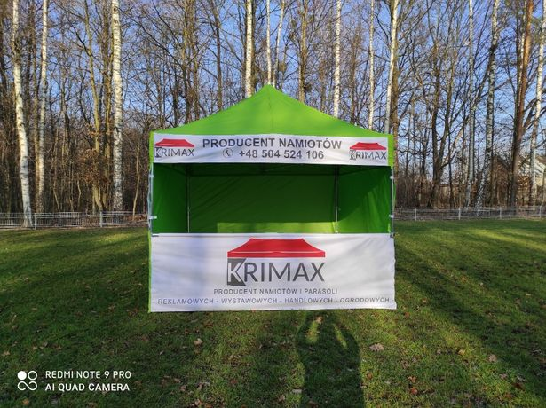 Namiot handlowy 3 x 3, reklamowy, ogrodowy parasol