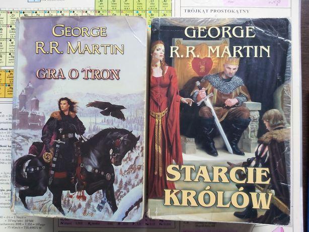4 tomy Gra o tron komplet Starcie królów Nawałnica mieczy