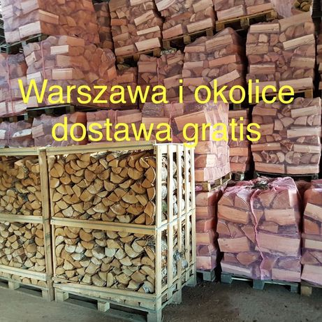 Drewno kominkowe opałowe liściaste brzoza dąb buk grab Warszawa