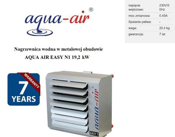 Nagrzewnica wodna aqua-air - metalowa! moc 25kW 2200m3/h nowa od ręki