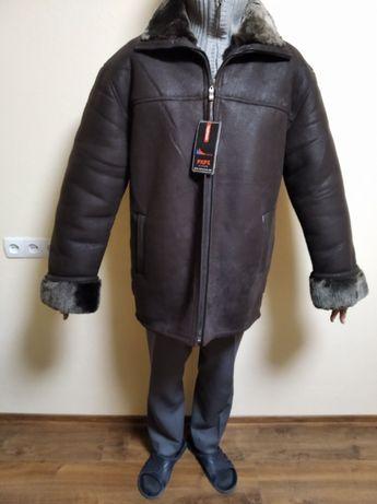 куртка зимова тепла дубльонка штучна шкіра і міх, абсолютно нова
