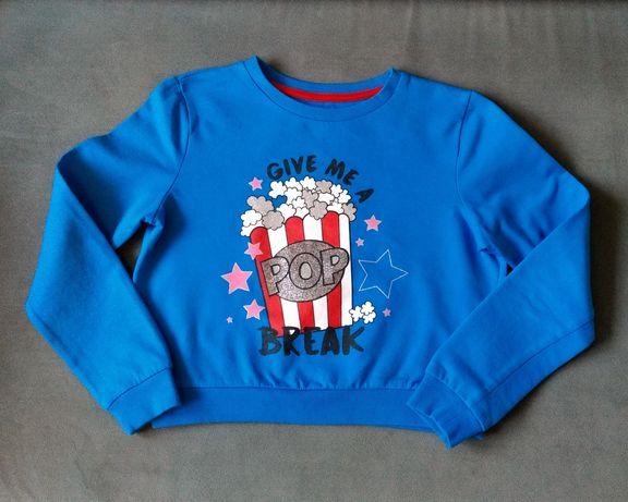 Bluzka niebieska 134 / 140 dla dziewczynki dziewczęca