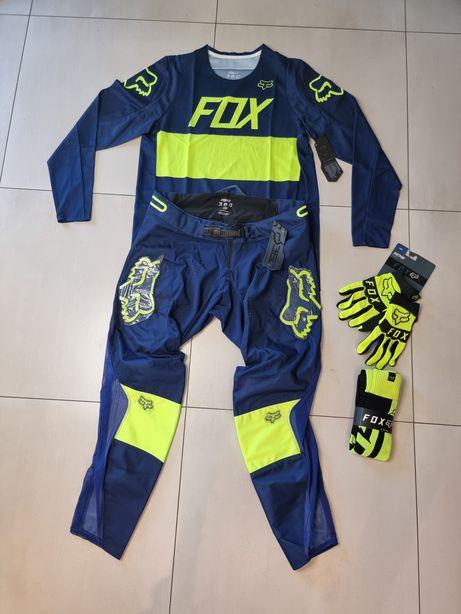 Fox 36 XL cross enduro strój spodnie bluza