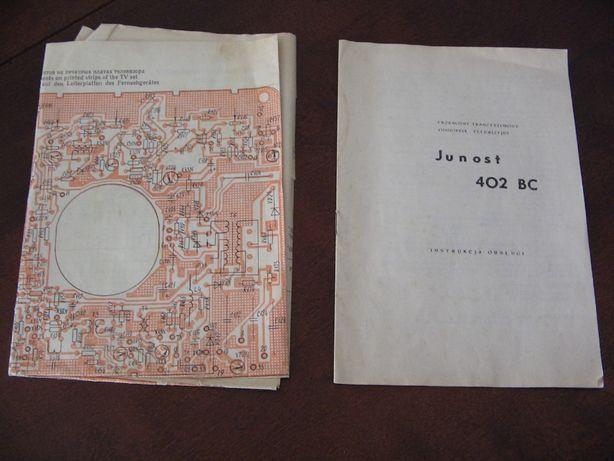 Telewizor Junost 402 BC instrukcja i schemat