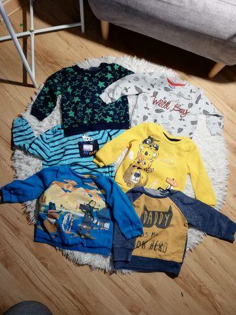 Bluzy dla chłopca 6 sztuk 80 86