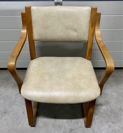 Krzesła fotele skóra Skandynawia 4 sztuki