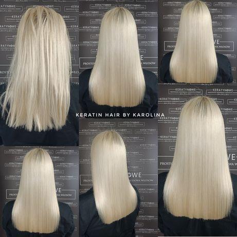 Keratynowe prostowanie włosów -(KERATYNA)( NANOPLASTIA )(REGENERACJA)