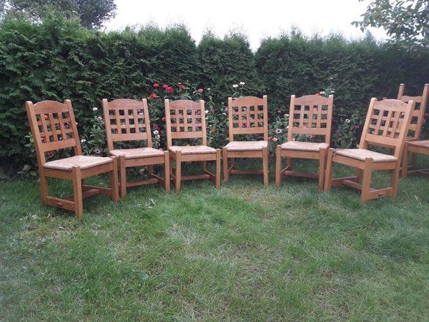 KRZESŁA DREWNIANE Krzesło komplet stabilne