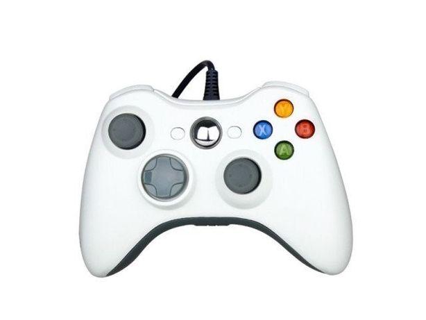 Xbox 360 Gamepad проводные,геймпады для ПК и косолей X-BOX (белые)