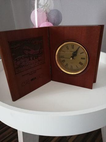 Zegar drewniany książka