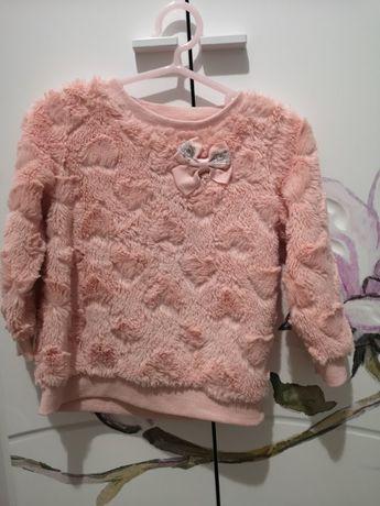 sweterek pluszowy dla dziewczynki 86