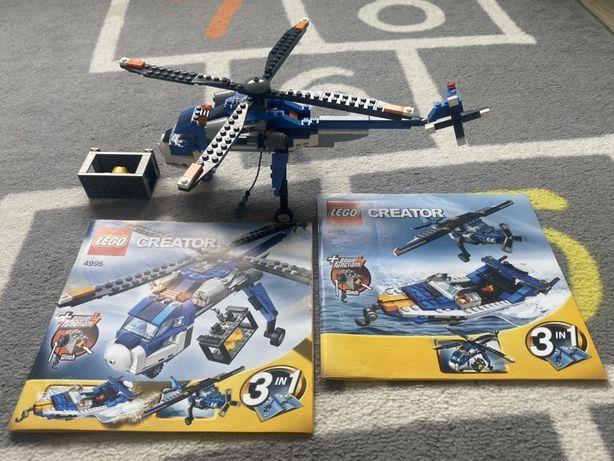 Lego Creator 4995 3 zestawy w jednym, helikopter, samolot, motorówka