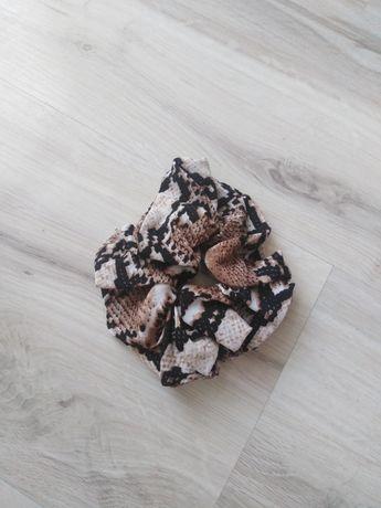 Scrunchies gumka do włosów motyw skóry węża