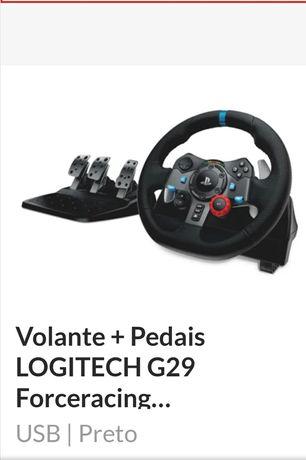 Volante e pedais playstation 4 Logitech g29