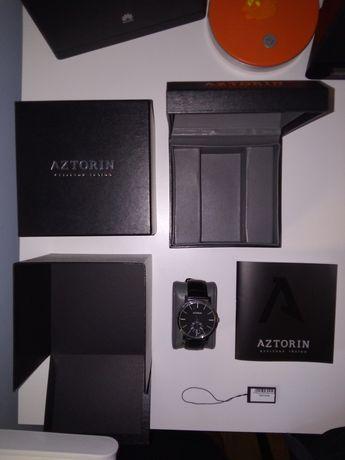 Zegarek Aztorin czarny na skórzanym pasku