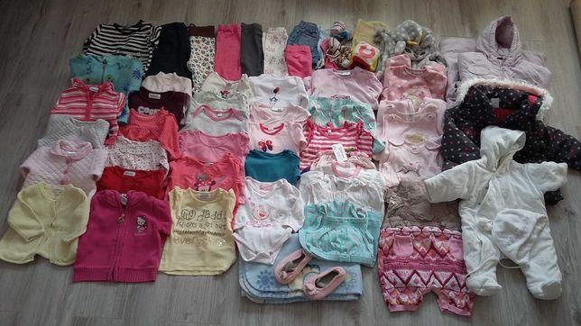 50 szt ubranka dziewczęce 0-12 mcy zestaw 1