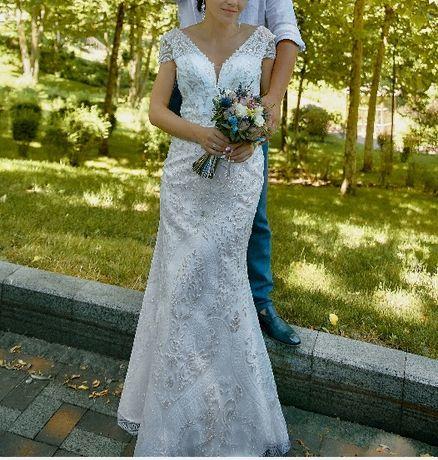 Дизайнерское свадебное платье по супер цене!