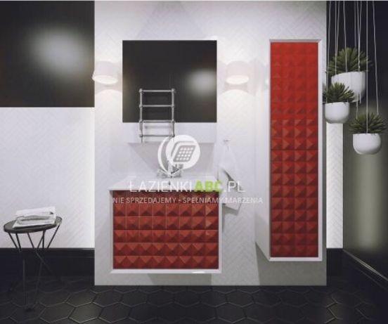 Meble łazienkowe Szafka wisząca Umywalka Lustro LED