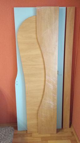 3 детали кровати и столешница остатки ДСП Bucina яблоня и МДФ крашеный
