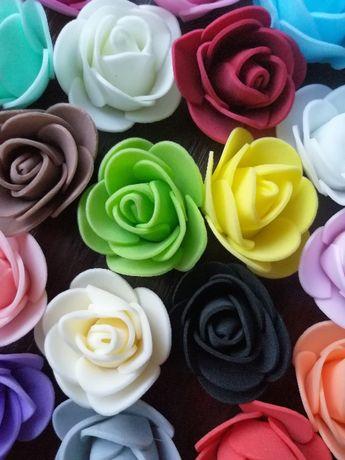 Różyczki róże piankowe 3,5cm 50szt.