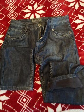 Spodnie męskie Jeans ocieplane