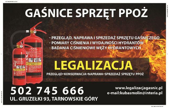 Legalizacja, przegląd, naprawa, sprzedaż gaśnic oraz hydrantów