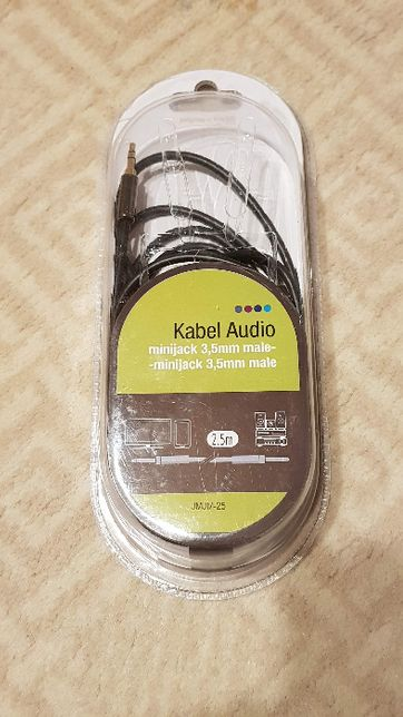 Kabel (przewód) minijack - minijack 2.5m