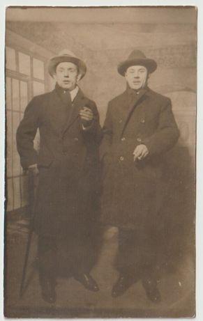 Stare zdjęcia dwaj mężczyźni 1927 rok