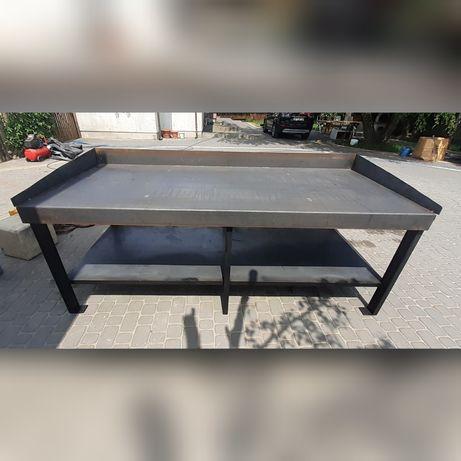 Stół,falbanek do garażu, solidny , pod imadło , dwa pietra