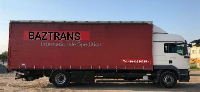 Usługi transportowe krajowe do 9ton 20 europalet