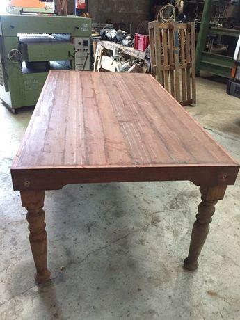 Mesa rústica madeira maciça