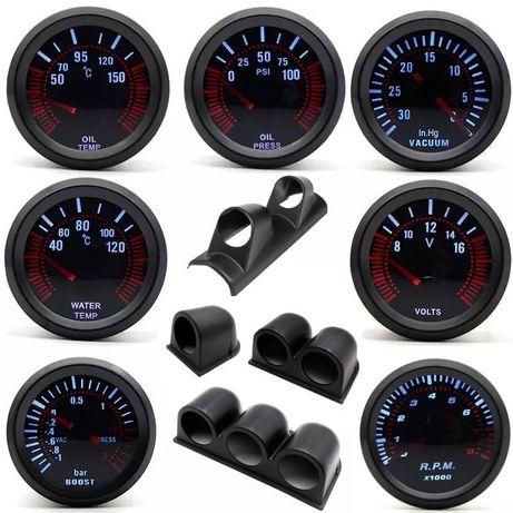 Suportes e manómetros vários modelos (Turbo, Temperatura de água/óleo,