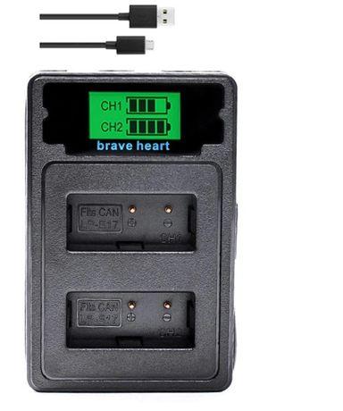 Carregador Brave Heart para baterias LP-E17 da Canon