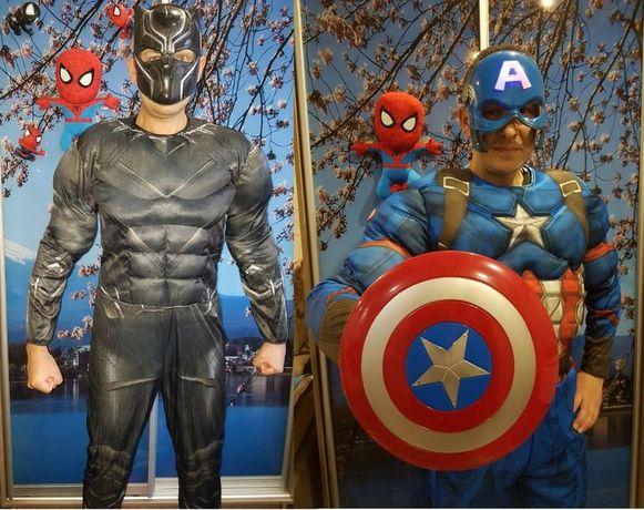 Костюм Супергероя Марвел для аниматоров:Тор,Халк,Капитан,Спайдер и др.