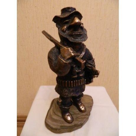 Скульптура, статуэтка Охотник. Бронза