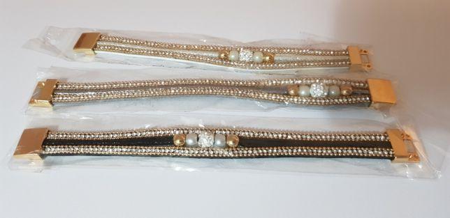 NOWA bransoletka bransoleta na magnes łańcuch z magnesem zapięcie