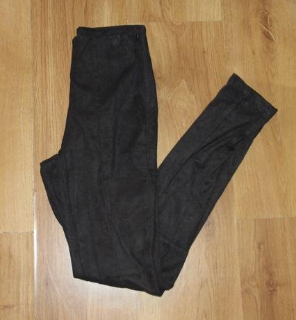 spodnie ala zamsz czarne rurki 36 s levis ochnik la mania kors mohito