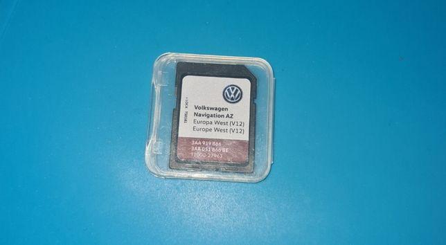 RNS 315 karta SD Mapa V12 wschód i zachód VW SEAT SKODA 2020r
