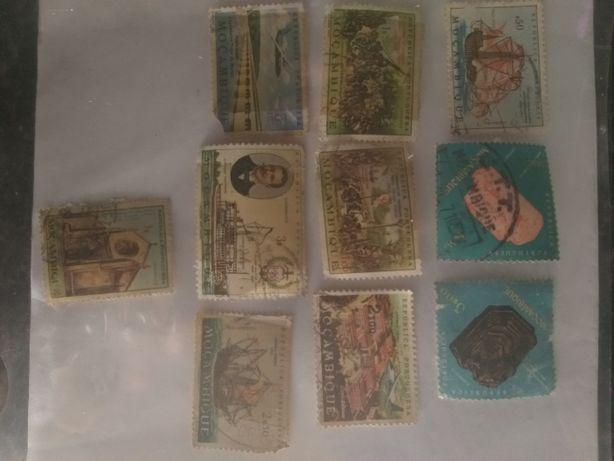 Selos antigos circulados